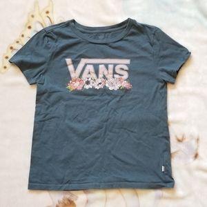 Van's floral t shirt